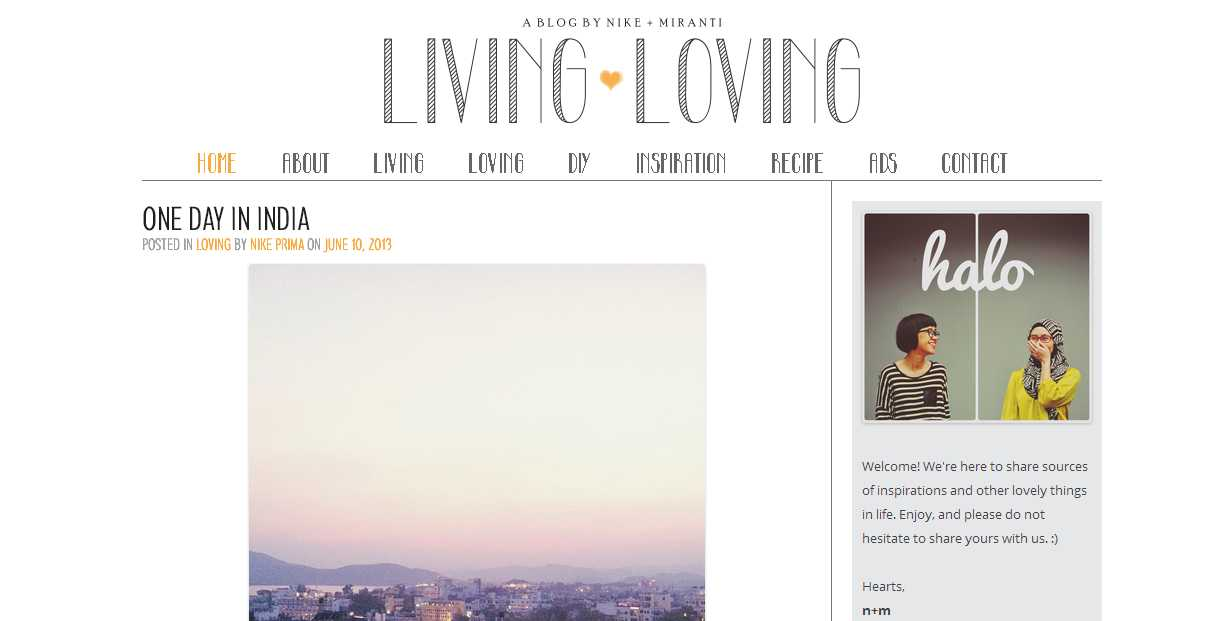 Living Loving - A blog by Nike and Miranti