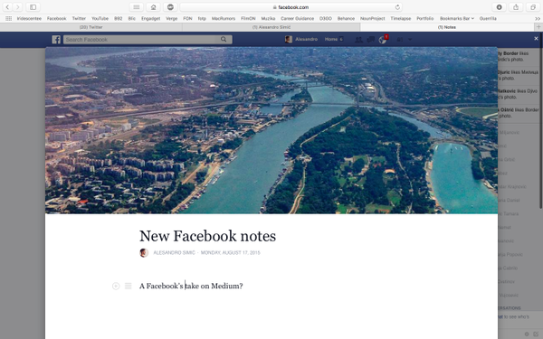 new facebook notes